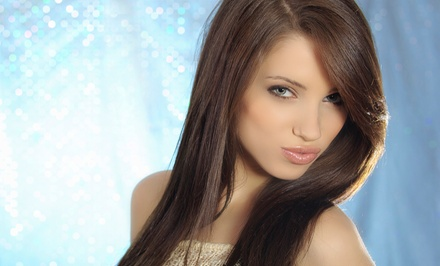 Haircut, Scalp Massage, and Style with Optional Highlights or Color at Anim Hair & Beauty Studio (Up to 79% Off)