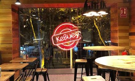 Menú Kebuey para 2 o 4 personas con entrante, Kebuey, patatas y bebida en KeBuey (hasta 44% de descuento)