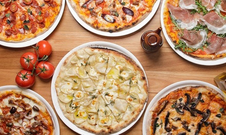 TwoCourse Italian Dinner with Wine for Two $29.50 or Four People $55 at Enzos Pizza Bar Up to $164 Value