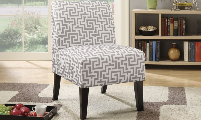 Acme Ollano Fabric Slipper Chair Groupon
