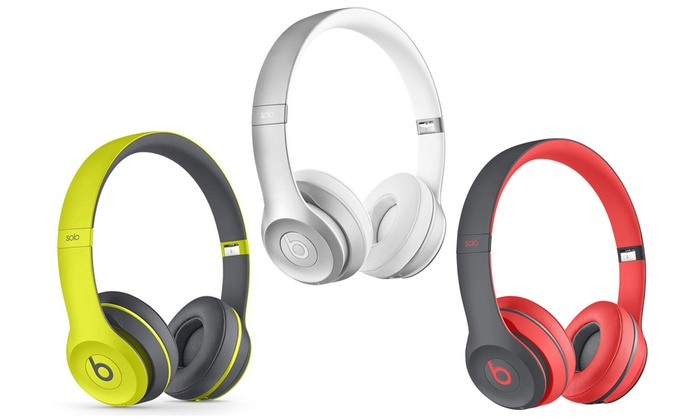 5b48737c742 Beats by Dre Solo 2 Wireless Headphones (Refurbished) | Groupon