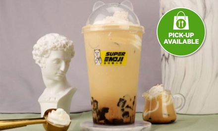 From $4.90 for Choice of Milk Tea, Black Tea or Slush at Super Emoji, Belconnen (Up to $8.80 Value)