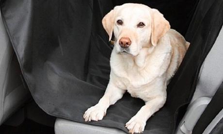 Wasserfeste Hundematte für Pkw in Schwarz in Haar