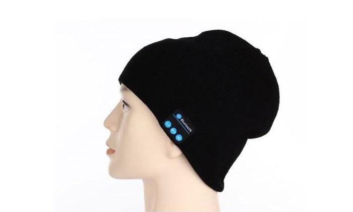 """ס.ב.ב.א גרופ בע""""מ - Merchandising (IL): כובע צמר הכולל מערכת סאונד Bluetooth סטריאופונית עם דיבורית ומיקרופון"""
