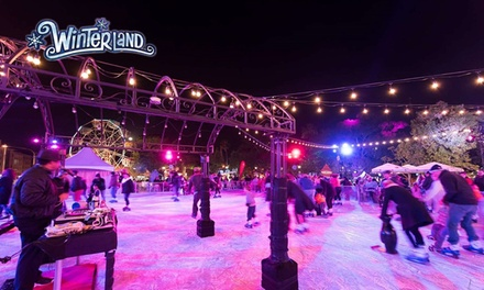 $35 for Entry to Outdoor Ice Skating Rink Session and 30 Ride Coupons at Winterland Campbelltown Up to $47 Value