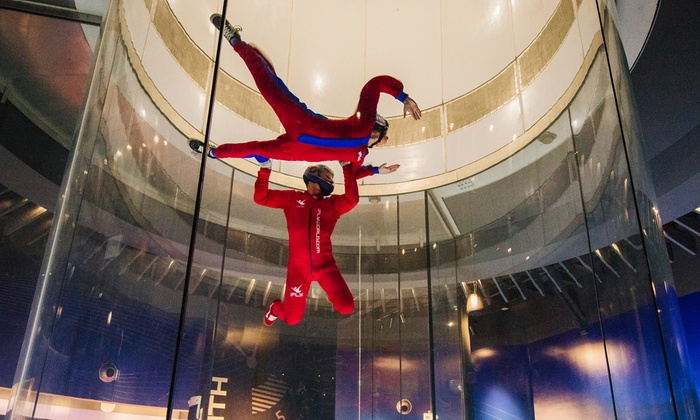 The entire indoor skydiving experience takes about 75 minutes from start to finish. Each session includes up to six people, but you fly one-on-one with your instructor for 60 seconds in the wind tunnel twice. Additional Information. Confirmation will be received at time of bookingPrice: $