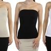 Sleek and Slimming Women's Tube Tops (3-Pack)