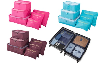 SixPiece Luggage Organiser Set