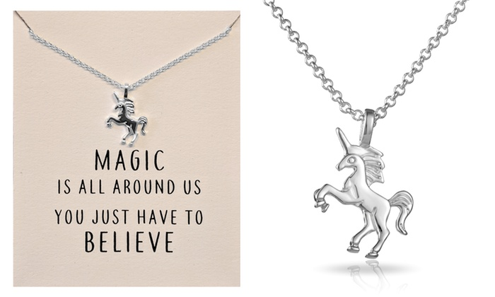 One or Two Philip Jones Unicorn Necklaces From £5.99