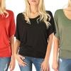 Lyss Loo Women's Plus-Size Dolman Tunic Top (3-Pack)