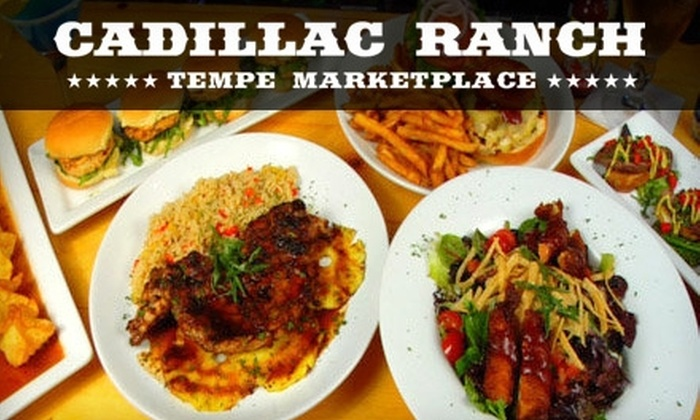 Cadillac Ranch Phoenix - Tempe: $15 for $30 Worth of Burgers, Sandwiches, Steaks, Drinks, and More at Cadillac Ranch