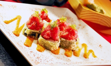 Steaks, Seafood, Sushi, and More at POC American Fusion Buffet & Sushi (Up to 43% Off). Two Options.
