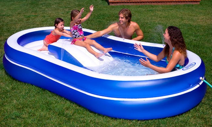 Inflatable Slide n' Spray Fun Pool