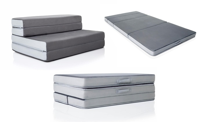 Off On Lucid Folding Sofa Mattress Groupon Goods - Mattress for sofa bed