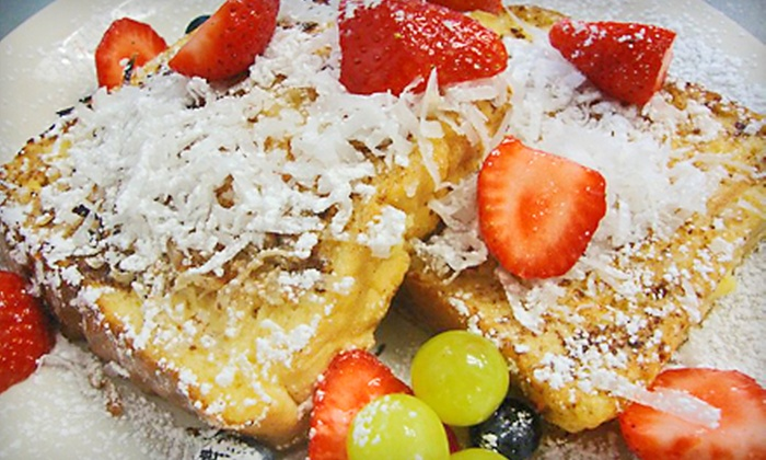 Cafe Elysa - Carlsbad: $13 for a French Toast Breakfast with Coffee and Fresh Fruit for Two at Cafe Elysa in Carlsbad ($27.30 Value)