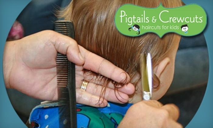 Pigtails & Crewcuts - Multiple Locations: $9 for Children's Haircut at Pigtails & Crewcuts (Up to $17.95 Value). Two Locations Available.