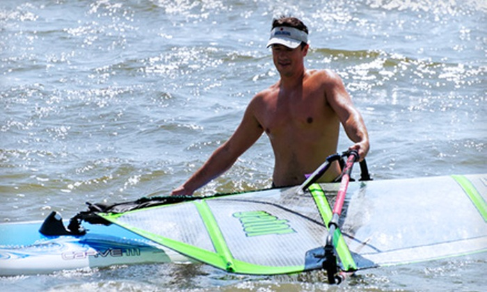 Extreme Windsurfing - West Atlantic City: Windsurfing Rental or Standup-Paddleboard Lesson for One, Two or Four from Extreme Windsurfing in West Atlantic City