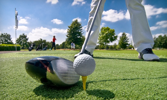 CompuGolf Center  - Northwest Carrollton: $49 for Ticket Book for Discounted Rounds of Golf, Lessons, and Merchandise at CompuGolf Center in Carrollton ($99 Value)