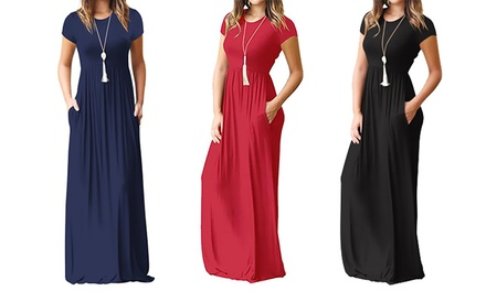 One or Two Short-Sleeve Maxi Dresses