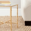 Safavieh Keri Metallic Bamboo Accent Table