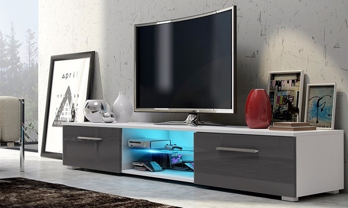 Groupon Goods Global GmbH: Selsey Edith TV Cabinet with LED Lighting in Choice of Colour With Free Delivery