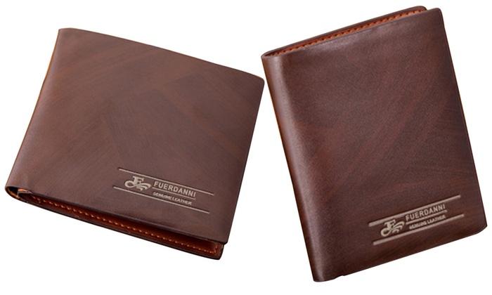 Fuerdanni Men's Classic Genuine-Leather Wallet