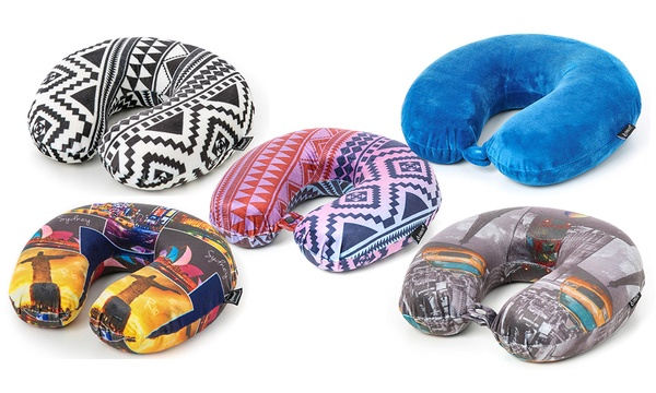 One or Two Memory Foam Neck Pillows