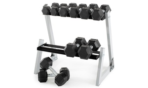 Weider 200lb. Dumbbell Kit with Rack