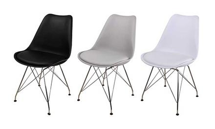 Pierre Cardin Kussen : Design stoel met kussen en chromen poten in drie kleuren vanaf