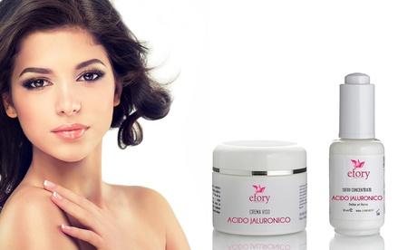 1 o 2 sets de crema y serum con ácido hialurónico Efory Cosmetics