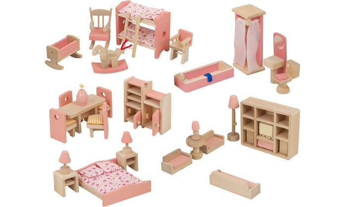 Up To 37 Off Dollhouse Furniture Set Groupon