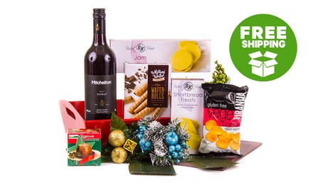 Free Shipping: From $39 to $99 for Gift Packaged Christmas Hampers with Wine and Goodies (Up to $150 Value)