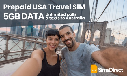 $44 GB USA SIM Card from SimsDirect Up to $55 Value