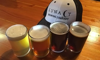 image for $18.50 for a Beer Tasting for Two at Lunacy Brewing Company ($26 Value)