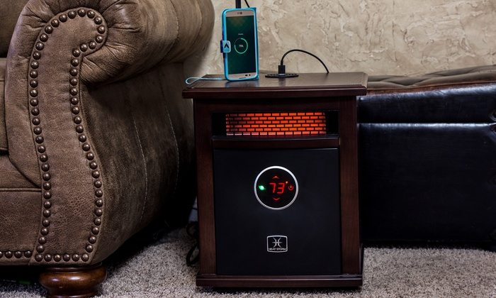 Heat Storm Deluxe Logan Portable Infrared Space Heater with Built-In Bluetooth Speaker