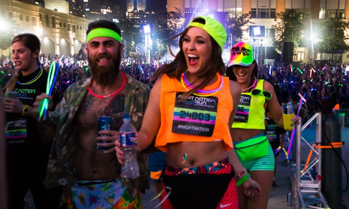 Night Nation Run - LA Fairplex: $29 for Entry to a Nighttime 5K Music Festival from Night Nation Run on Saturday, July 9 ($60 Value)