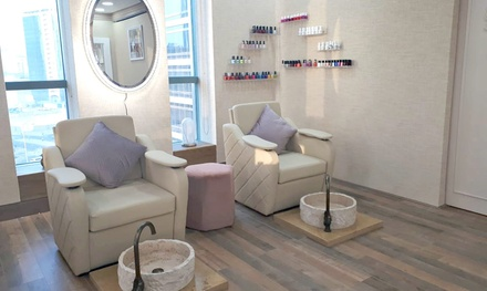 Classic or Gelish Manicure and Pedicure with Optional 30 Minute Foot Spa Treatment at Forbice Salon (Up to 68% Off)
