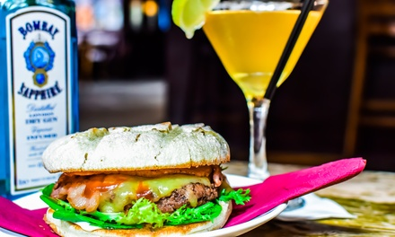 Homemade Burger and Premium Cocktails for Two at Firebug