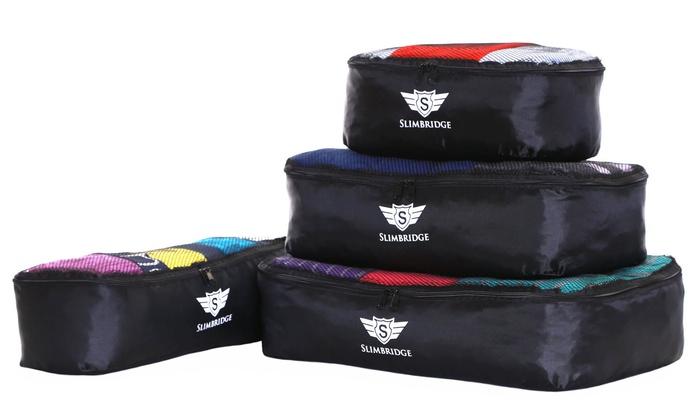slimbridge milan 4 packing cubes groupon goods. Black Bedroom Furniture Sets. Home Design Ideas
