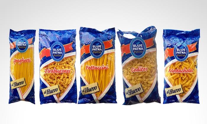 Blue Patna - Sucursal Abasto: $55 en vez de $88 por paquete de pastas Blue Patna a elección para retirar en sucursal Abasto