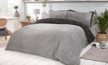 Plush Ribbed Fleece Duvet Set