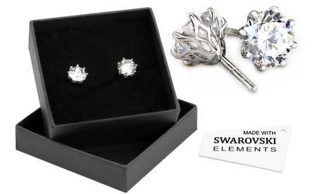 1 o 2 pares de pendientes decorados con cristales Swarovski® Oferta en Groupon