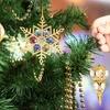 24K Gold–Plated Matashi Crystal Christmas Ornaments (3-Pack)
