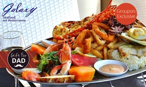 Galaxy Seafood & Mediterranean Restaurant: From $59 for Seafood Platter with Half a Lobster for Two at Galaxy Seafood & Mediterranean Restaurant (From $219 Value)