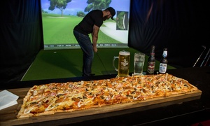 Slice Virtual Golf: Virtual Golf, Pizza and Beers for Two ($29), Four ($49) or Eight People ($99) at Slice Virtual Golf (Up to $223 Value)