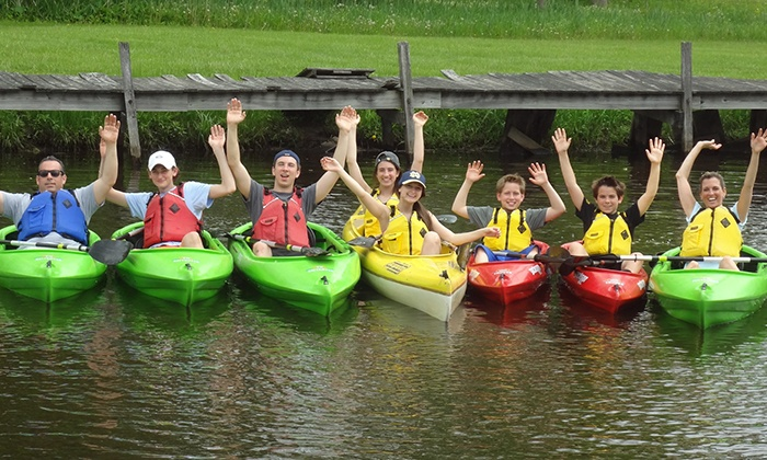 Fuzzy Guppies - Waterloo: Half-Day Kayak Rentals for Two or Four at Fuzzy Guppies (Up to 65% Off)