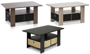 Furinno 11158 Coffee Table with Bin Drawer