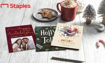 Up to 70% Off Custom Holiday Cards & Invites from Staples
