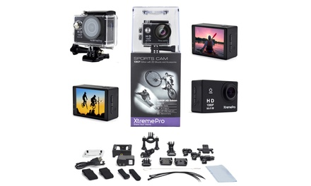 XtremePro 1080p Full HD Wifi Waterproof Sports Camera Bundle with 20 Accessories
