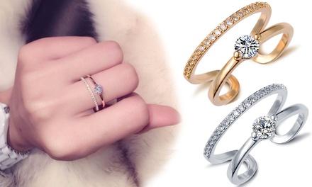 Anillos Sayma bañados en oro y adornados con cristales de Swarovski Elements® por 9,91 € (79% de descuento)
